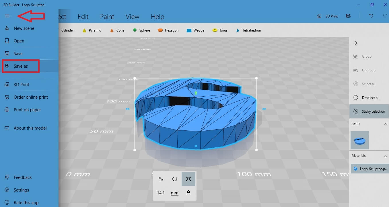 3D Builder: prepare your model for 3D printing