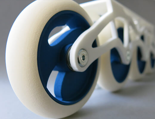 Flexible Plastic wheels in TPU by Sculpteo_material page