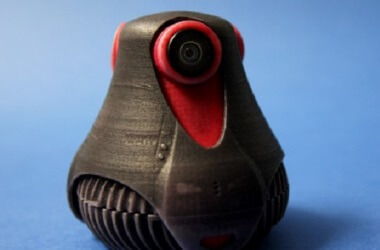 3D printed Prototype of the 360° degrees giroptic camera