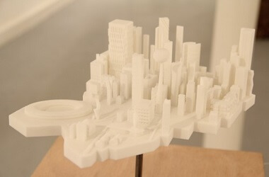 3D printed architecture mockup